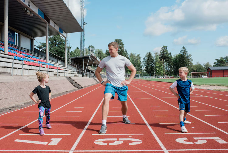 Full length of boy running