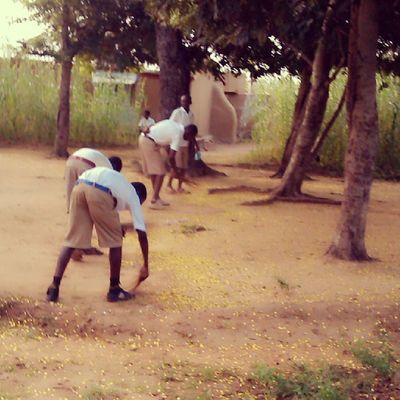 A typical school in Ghana ...over here students are given plots to work on every morning, the plots merge together and at the end of the day, we have a clean school compound. Instaaday Ghana360 KampusLife