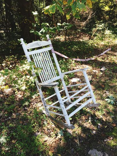 Empty Tranquility Solitude Outdoors Tranquil Scene Wooden Rocking Chair Chair Chairswithstories Yeahthatgreenville MyPhotography PhotoOp 2016 Plant No People EyeEm Gallery