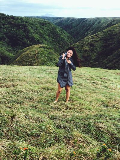 Mountain Nature Green Color Beauty In Nature Day Hiking Grass One Person Landscape Tranquility Full Length Girls Outdoors Mountain Range Scenics Portrait