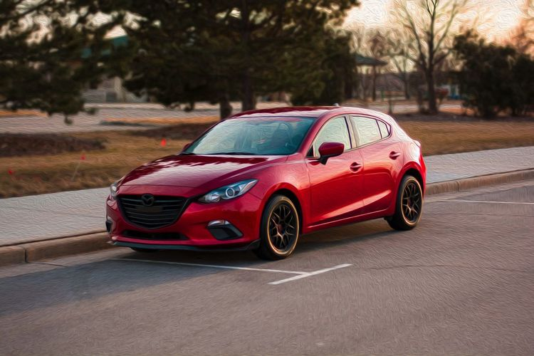 A red car parked on the side of the road M Car City Convertible Day Focus On Foreground Land Vehicle Luxury Mazda Mazdaspeed3  Mazdaspeed3  Mode Of Transportation Motion Motor Vehicle Nature No People Outdoors Plant Red Road Sports Car Street Toy Car Transportation Tree