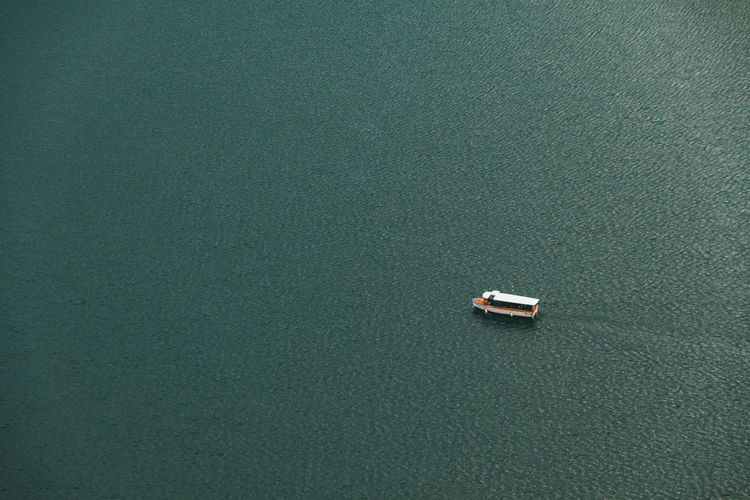 Aerial View Backgrounds Boat Close-up Day High Angle View Lake Minimal No People Outdoors Transportation Water An Eye For Travel