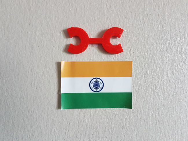 3D 3d Printing Check This Out Hanging India Logo Logo Design Taking Photos Close-up Day Flag Indoors  National Flag No People Red Sticky