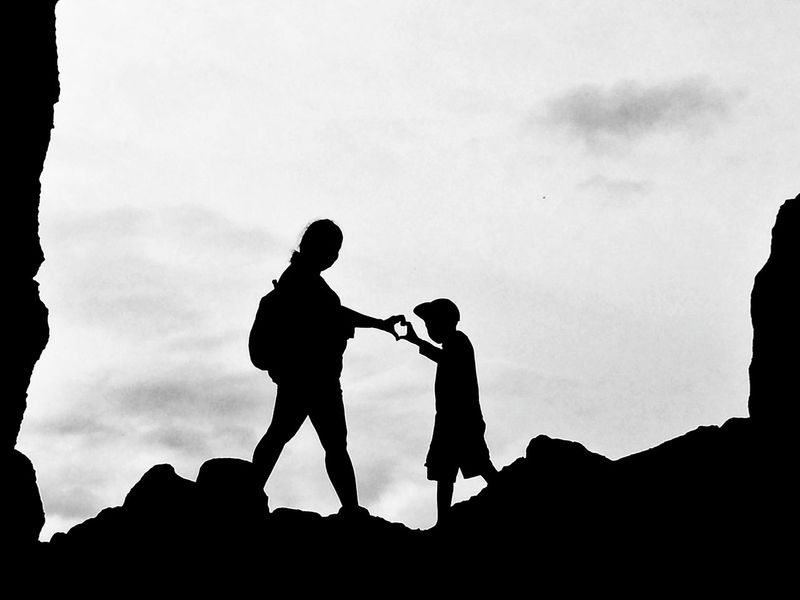 Silhouette of a mothers love Silhoutte Silhouette_collection Eyeem Philippines