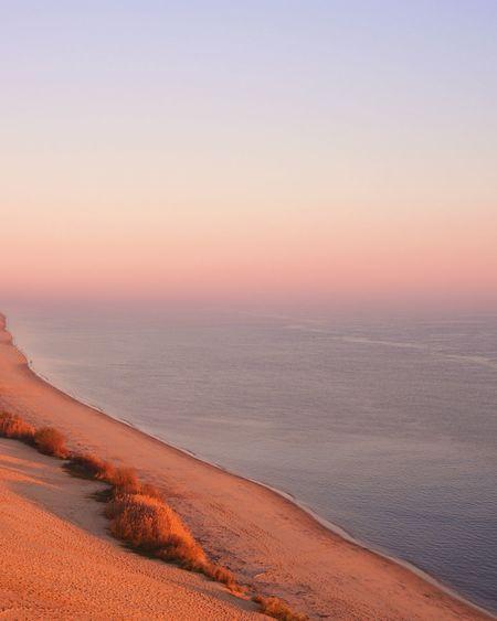 Beauty In Nature Nature Scenics Sand Beach Horizon Over Water No People Outdoors Sand Dune EyeEm Best Shots EyeEmBestPics TheWeekOnEyeEM EyeEm Best Edits Dune Du Pyla Gradient Sunset Sunset_collection
