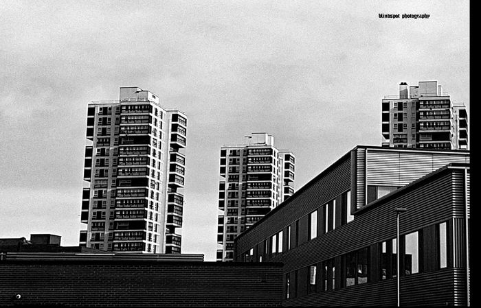 Towers Building Exterior Architecture Built Structure City Outdoors Skyscraper No People Low Angle View Day Sky 3XSPUnity Architecture Minimalarchitecture Sonya58 Bwphotography BW Collection Minimal Brutalism Concrete Blocks Sonyimages London Southwark SouthLondon