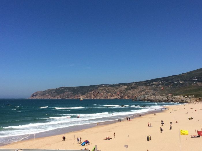 Atlantic Ocean Bathing Lisbon - Portugal Portugal Beach Beauty In Nature Clear Sky Summer Sun Water first eyeem photo