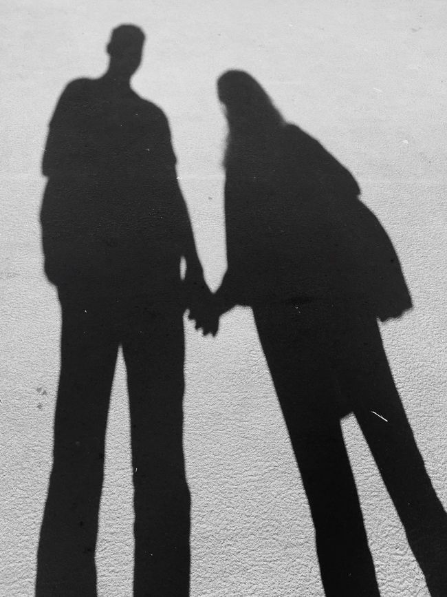 I❤️MyLove Shadow Sunlight Focus On Shadow Leisure Activity Street Men Lifestyles Togetherness Person Holding Outdoors Day Footpath Outline Creative Light And Shadow TwoIsBetterThanOne