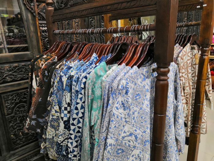 Clothing for sale in store