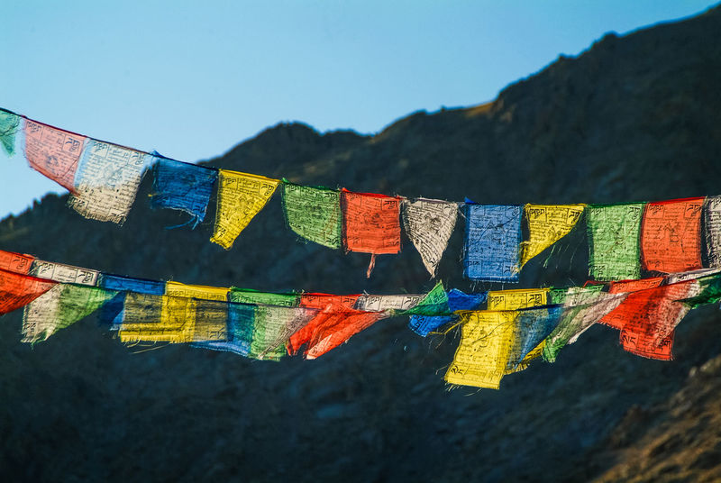 Prayer flags Flag India Leh Mountain Multi Colored Outdoors Prayer Flags  Travel Travel Destinations