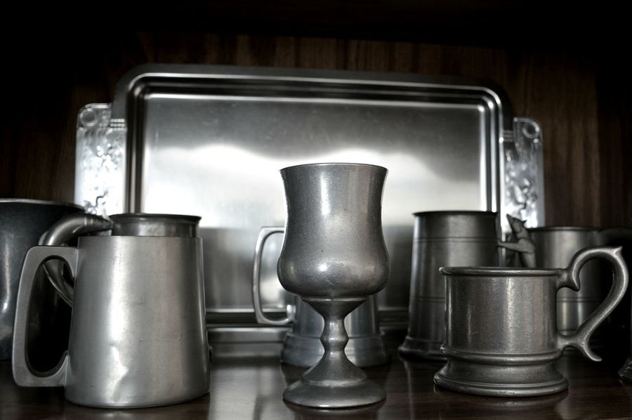 Pewter collection Pewter Drinking Vessel Food And Drink Collection Domestic Life No People Domestic Kitchen Indoors  Metal Mugs Tankards