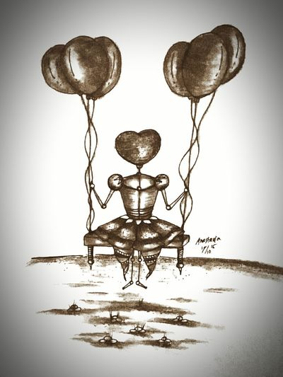 Me Learn Drawing Art Girl Derwent Charcoal Fabercastell Snowman Baloons Insomnia