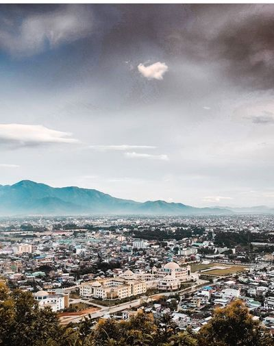 Imphal City.. City Cityscape Urban Skyline Politics And Government Mountain Town Residential Building House High Angle View Sea TOWNSCAPE