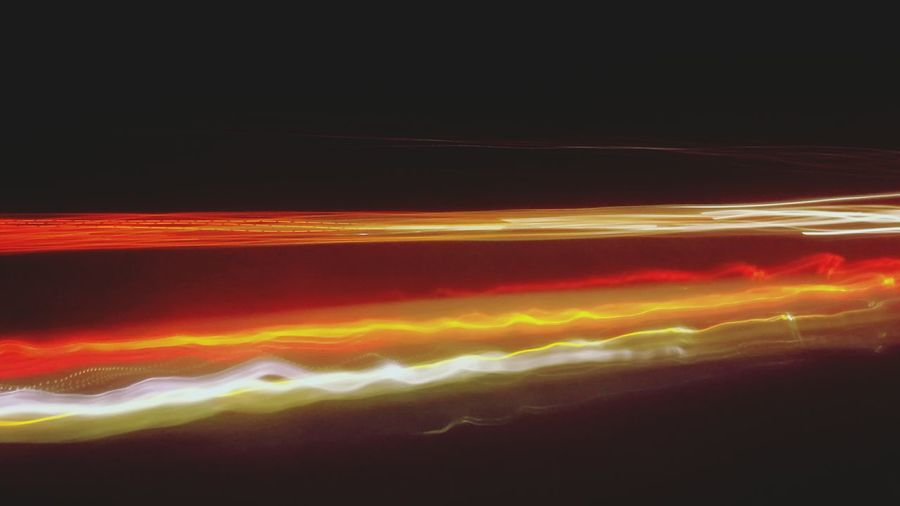 through the night...driving home. sitting on the backseat and looking outside. Red Orange Color Black Background Night Motion On The Backseat Of The Bus Glitchphotography On The Road Lightpainting Illuminated My Point Of View Through The Night With ... Yellow Light Abstract