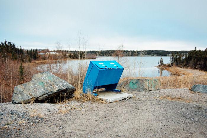 Blue Day Lake Landscape Minimal Minimalism Minimalist Minimalobsession Nature Northern Canada Outdoors Waste Management Yellowknife