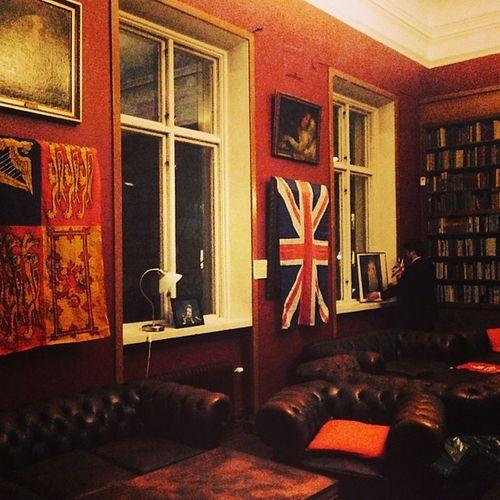 At The English Club.