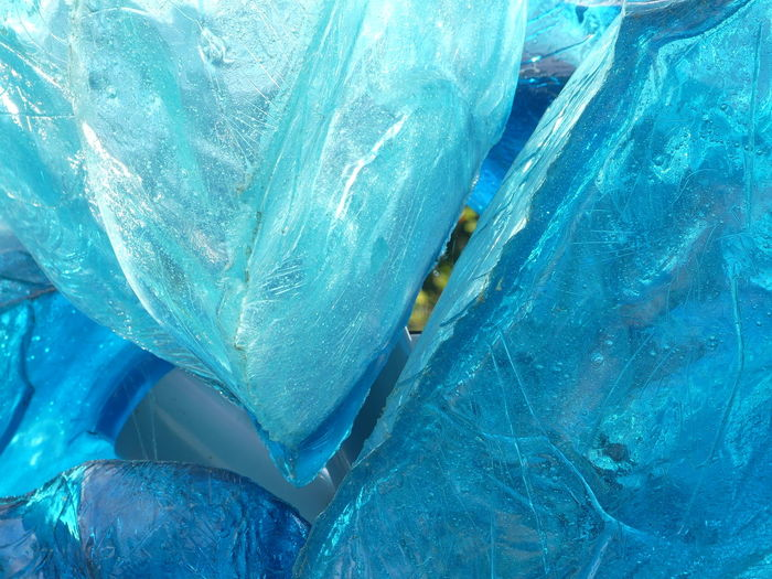 Backgrounds Beauty In Nature Blue Close-up Crystal Day Frozen Full Frame High Angle View Ice Jewelry Nature No People Quartz Rock Rock - Object Sea Solid Textured  Turquoise Colored Water