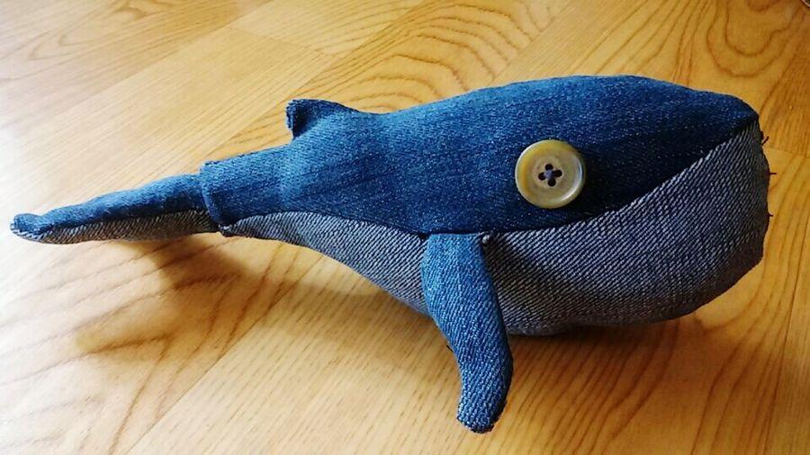 흰수염고래 청바지 재활용 제작 귀엽죠?