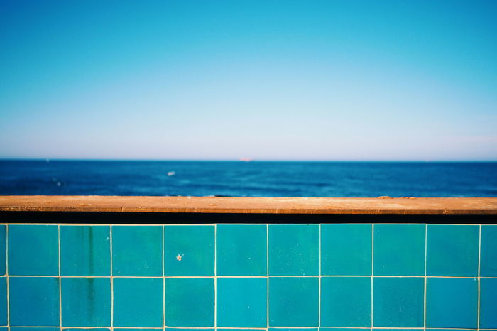 The blue blue sea... An Eye For Travel Enjoying Life Summer Blue Relaxing From My Point Of View Getting Inspired Showcase June Travel Photography Getting Creative Portugal Sea And Sky Seaside Sea Minimalism Minimalobsession Summertime Summer ☀ Blue Sea Fine Art Photography Hikinggalicia Exploring Style
