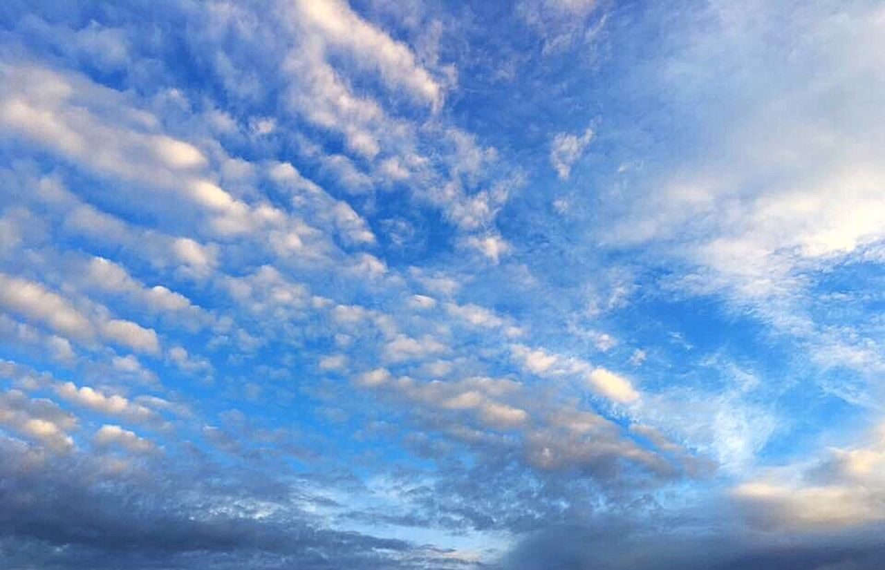 sky, cloud - sky, blue, nature, beauty in nature, low angle view, sky only, cloudscape, scenics, backgrounds, idyllic, no people, tranquil scene, day, tranquility, outdoors, full frame