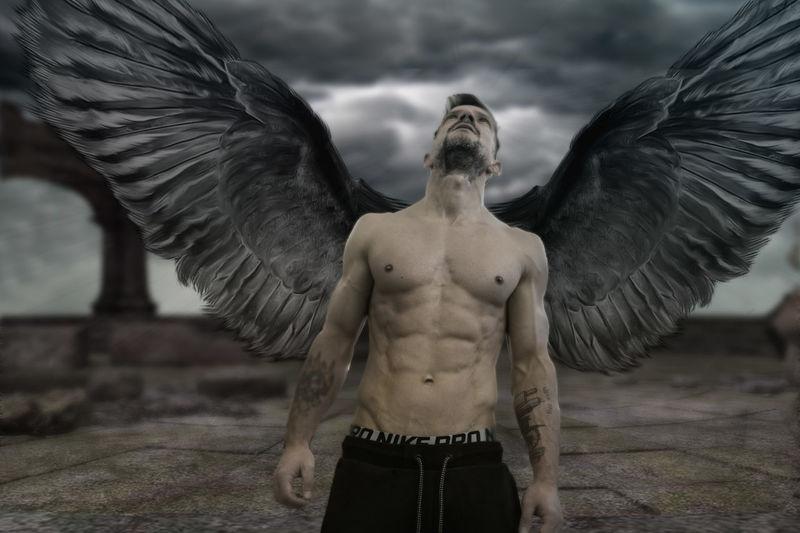 dark angel Body & Fitness Dark Angel Hope Shirtless Angel Body Curves  Bodyart Composing Darkart Eyem Best Edits Grey Phantasy Skinny