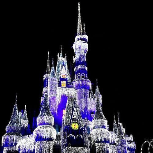 The Magic_kingdom at Desiny World in Orlando FL us usa Florida تصويري المصورون_العرب عدستي يومياتي ذكريات مبتعث احتراف قلعة ديزني mobt3th winter Christmas lights فلوريدا اولاندو