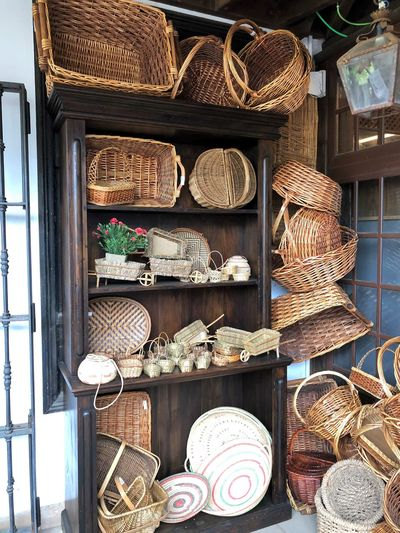 Choice Variation Retail  For Sale Large Group Of Objects Basket Wicker No People Container Day Store Market Still Life Wood - Material Collection Abundance Market Stall Outdoors Shelf Small Business Sale Retail Display Tenerife Island Teneriffa