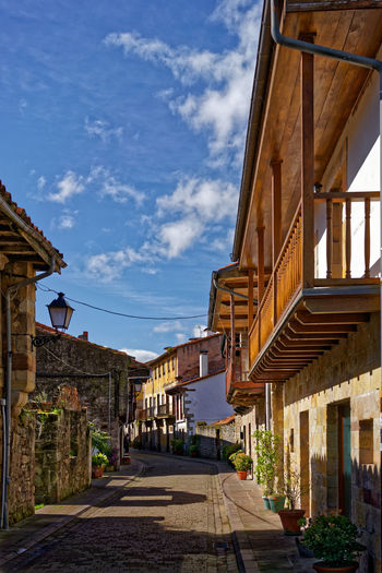 Cartes Cantabria, Spain Cantabria Old Town Old Town Streets Architecture Beautiful Street Building Building Exterior Built Structure Cartes Cloud - Sky Footpath House Outdoors Residential District Sky Stone Street Street Sunlight Sunny Day