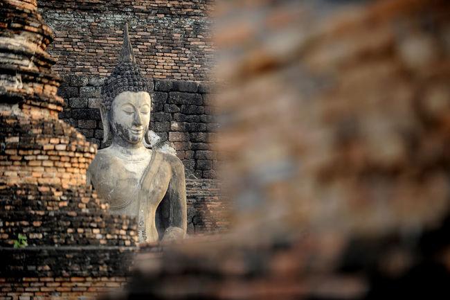 Buddha Buddha Temple Historic City Sukhothai Historical Park Northern Thailand Place Of Worship Religion Spirituality