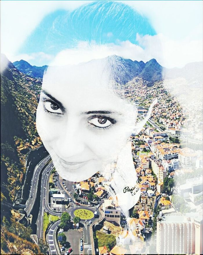 MYArtwork❤ Myedition Double Exposure Me Art, Drawing, Creativity Artistic Selfie Self Portrait Cityescape