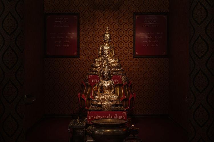 พระพุทธโสธร บำเพ็ญเหนือ วัดบางเพ็งใต้ Gold Spirituality Thailand Buddha Statue Buddism Gold Colored Religion