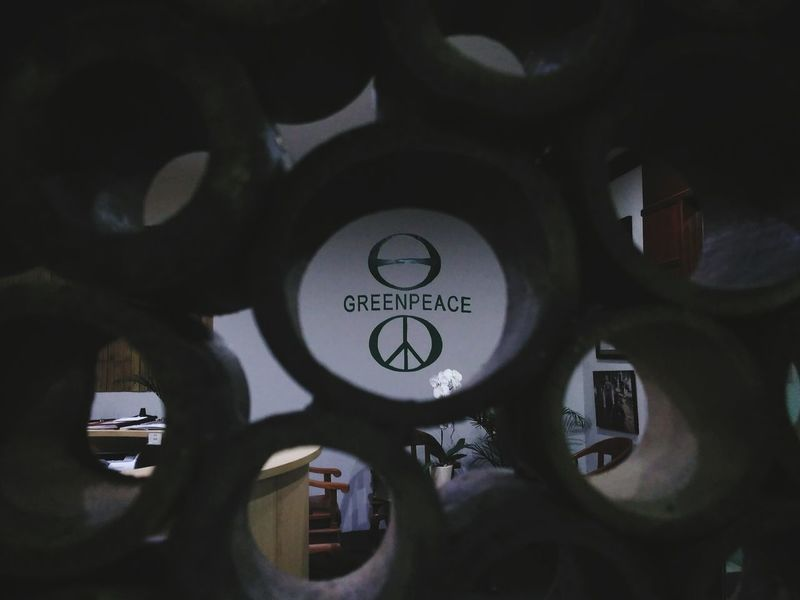 green peace EyeEm Selects Modern Workplace Culture Circle Architecture Built Structure Indoors  Clock Time Day