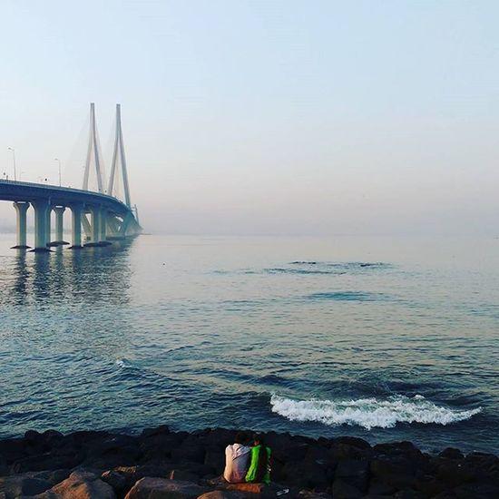 Couple Lovers Bandraworlisealink Bandstand Seaview Sea Mumbai Bandra Bridge Wave Beautifulnature Water
