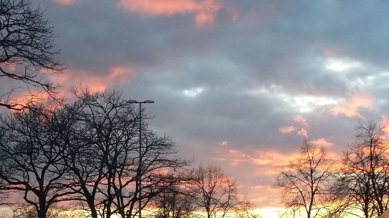 What a beautiful Sky Sunset Spring Hamburg