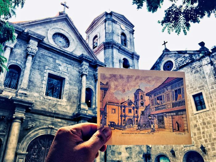 San Agustin Church, Manila, Philippines Intramuros,manila Architecture Human Hand Building Exterior Built Structure Human Body Part Real People An Eye For Travel History
