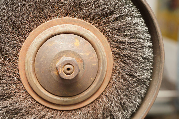 rotating wire brush Bolt Get Things Done Workshop Circle Metal Rotating Rusty Wire Brush
