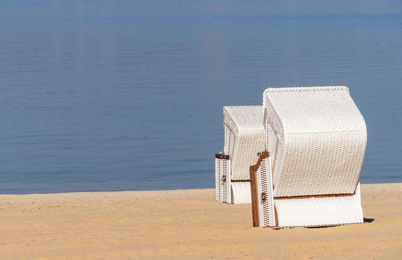 Hooded chair on beach