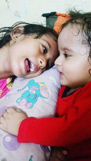 Sister And Brother Love❤ Playtime EyeEmNewHere Happiness Cute Little Girl And Baby Relationship