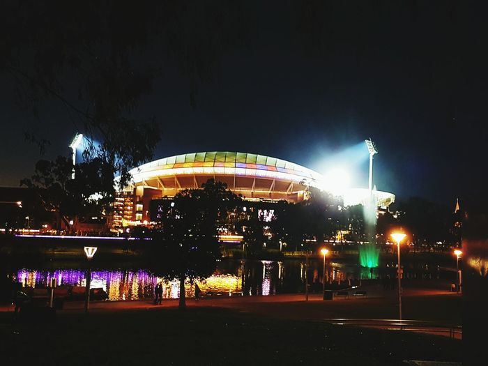 Adelaide oval at night Oval Adelaide, South Australia Crows AFL Football Nightphotography