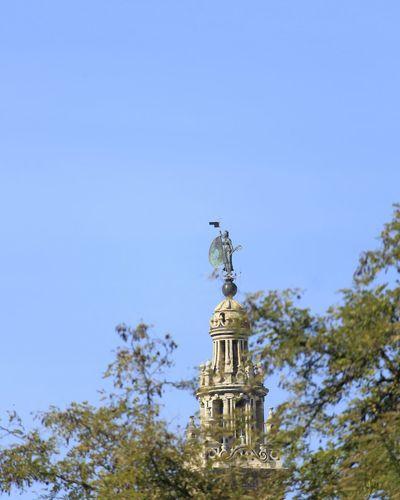 Blue No People Architecture City Sky Day Spain ✈️🇪🇸 Seville Giraldillo Giralda Cathedral