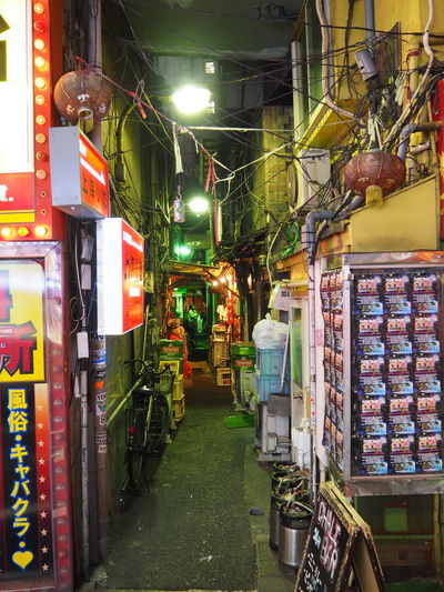 Architecture Choice Food Illuminated Indoors  Multi Colored Narrow Street Night No People Retail  Store Supermarket Tokyo Night Travel Destinations Variation