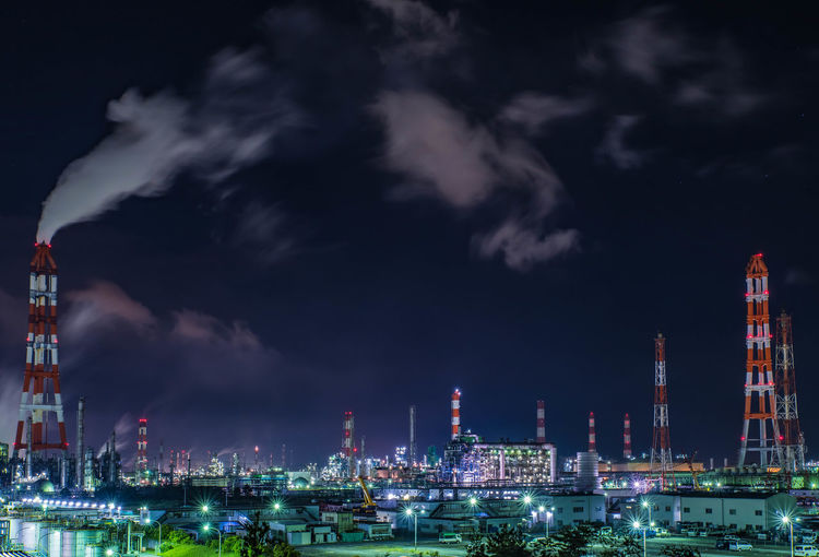 Factory Night View Night View Night Lights Nightphotography 工場夜景 Long Exposure