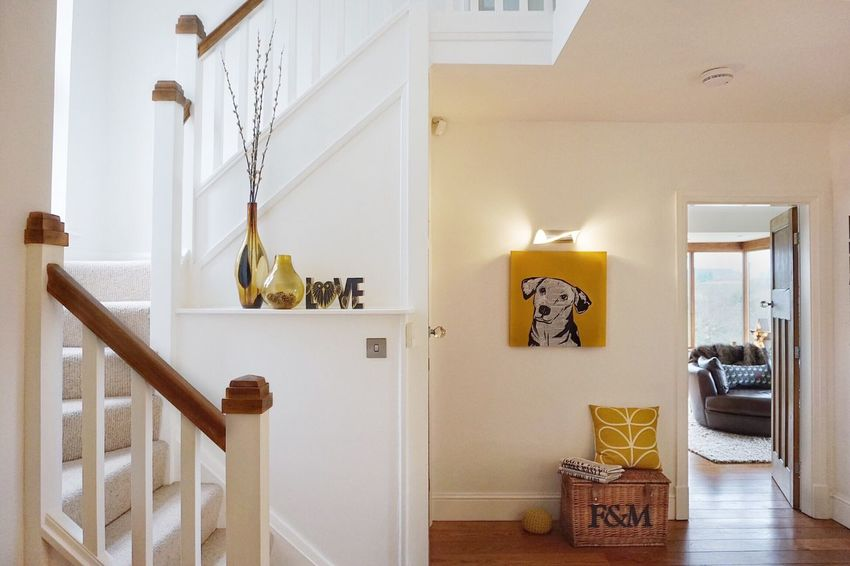 Interior Views Home Interior Mustard Mustard Yellow Interior Design Eye For Photography Stairway Hallway Doorways Handrails Handrail  Staircase