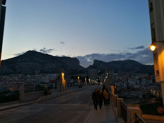 Alcoy Mountain Mountain Range Travel Destinations Landscape Sky Outdoors Night Architecture People Nature City Antique Medieval Alcoy Low Angle View Tourism Travel
