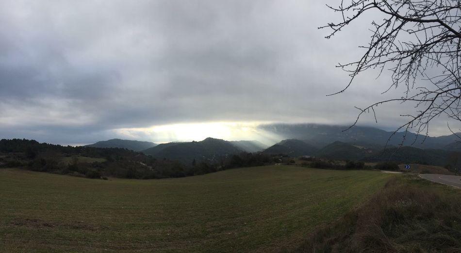 Mountain Landscape Sky Tranquility Montserrat
