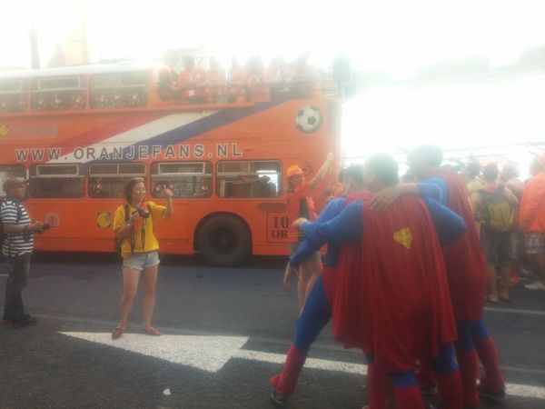 Orange Fans Worldcup2014 Having Fun Holland Fanwalk