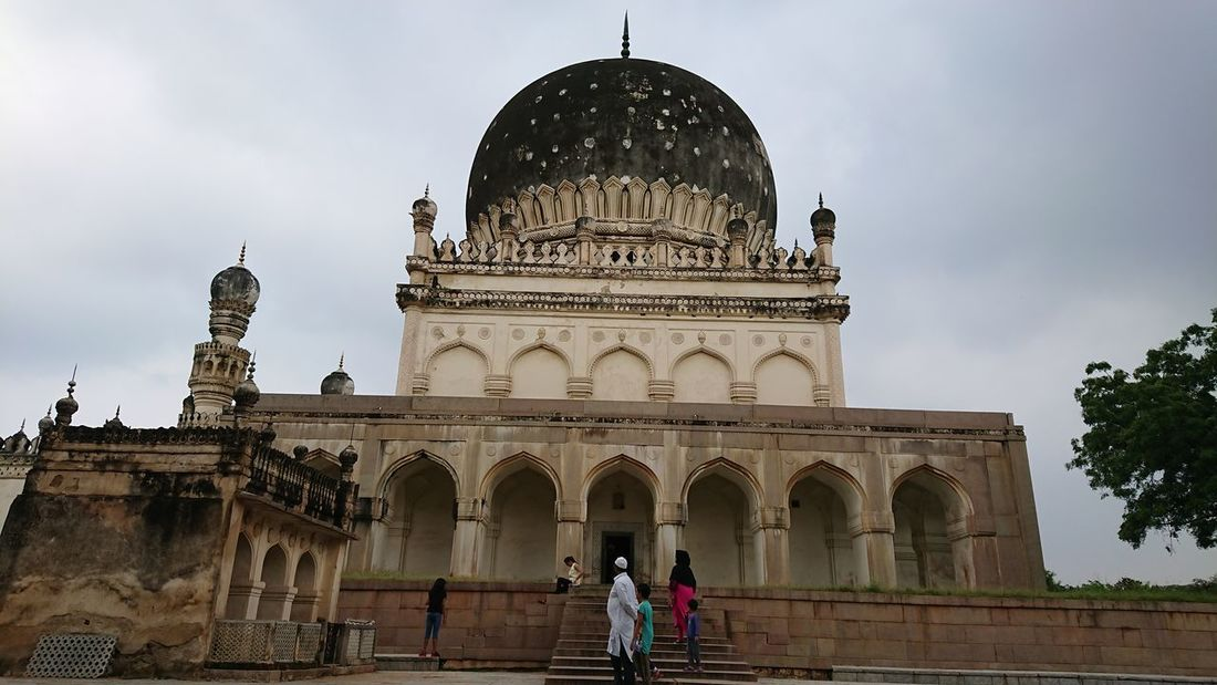 The beauty of Tomb Travel Destinations Architecture History Dome People Built Structure Travel Façade Outdoors Ancient One Person Adults Only City Politics And Government Building Exterior Day Adult Sky Young Adult Xperian Photography Sony Xperia Xz1 Eyeem Architecture Eyeem Monuments Hyderabad Monuments Qutub Shahi Tombs