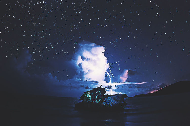 """""""War-Tank-Lightning Storm-Night""""🌖🌊📡👽🌖 Night Star - Space Blue Sea No People Nature Astronomy Water Beach Outdoors Mountain Wave Sky Beauty In Nature Milky Way Galaxy Space UnderSea EyeEmNewHere Color Blockıng Live For The Story The Great Outdoors - 2017 EyeEm Awards Colors Coastline Week On Eyeem BYOPaper! Sommergefühle"""