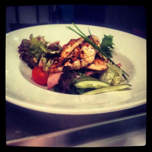 Restaurant Warm Chicken Salad Delicious