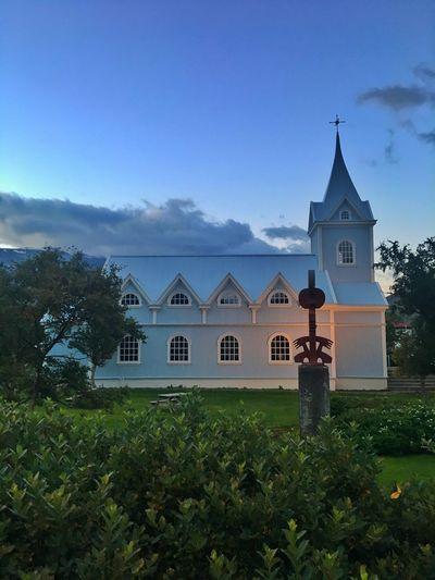 Walking Around Church Wooden Architecture Iceland Iceland216